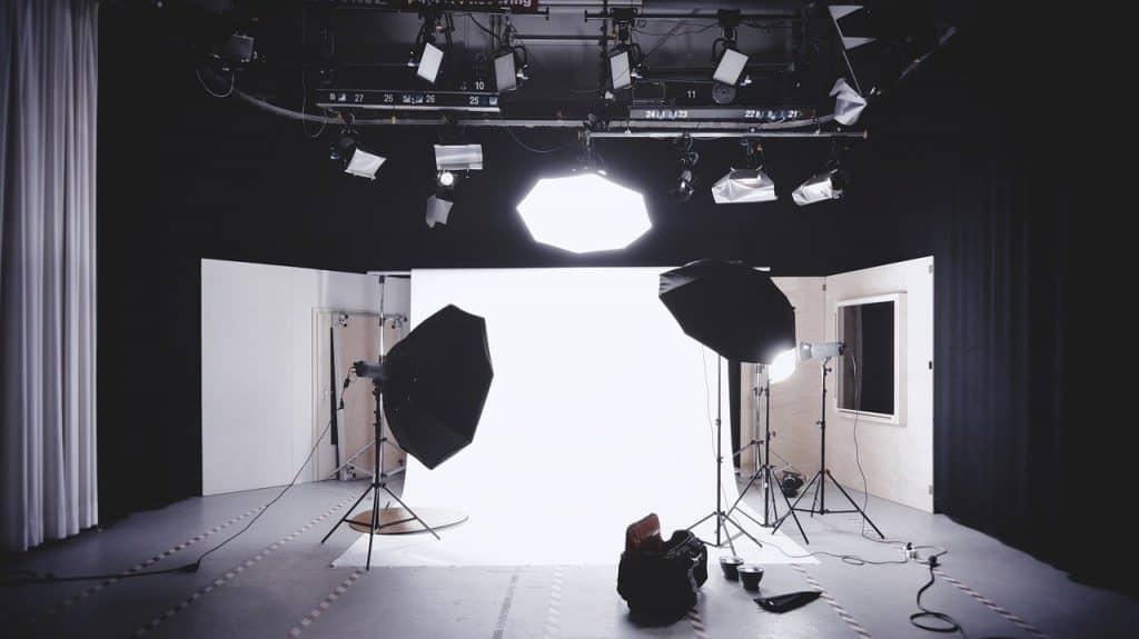 studio setup for corporate photography