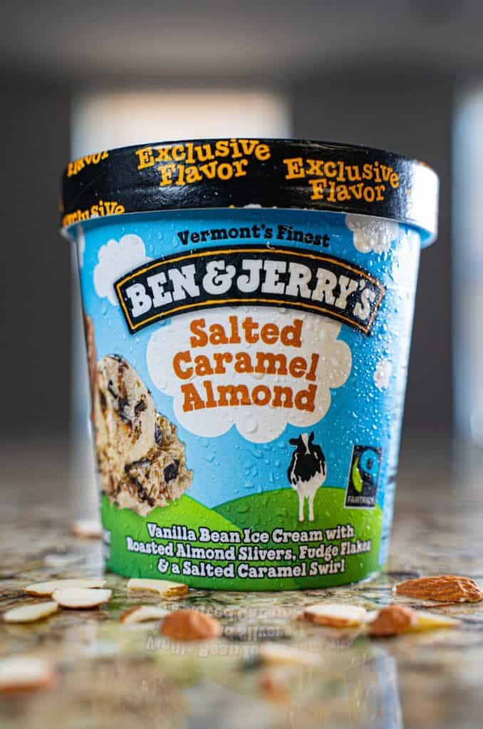 low shot ice cream photo