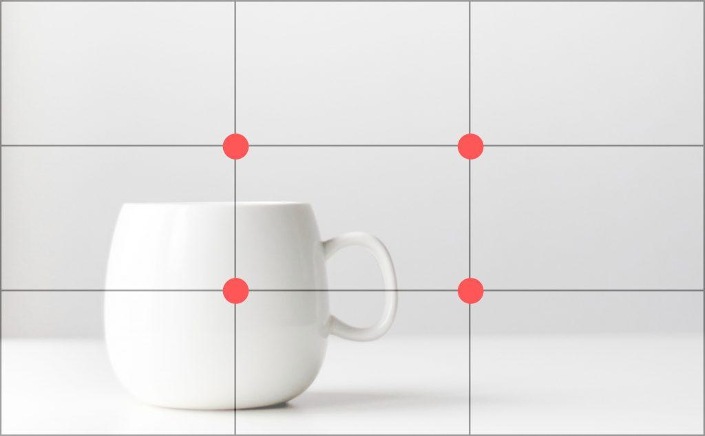rule of thirds mug product photography