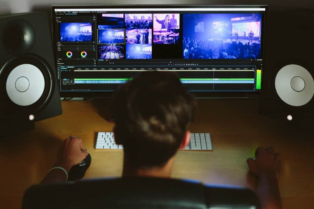 video editor workspace